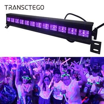 12 luces LED de discoteca UV violeta negro DJ 36W Par lámpara UV para fiesta Navidad Bar lámpara láser etapa pared arandela punto luz de fondo