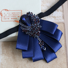 Aristocracy Style Cravat Bowties Mens Bowknots Tuxedo Dress Bow Tie Solid Color multiuse Wedding Groom Bowtie Gifts