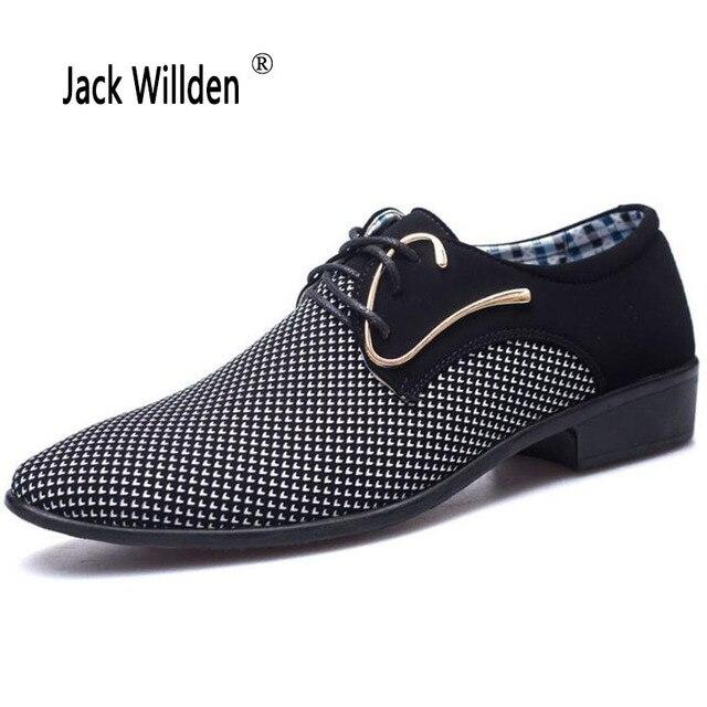 89c30483da1c2 Jack Willden Ofis erkek Takım Elbise Ayakkabı İtalyan Tarzı Düğün rahat  ayakkabılar Derby Ayakkabı Adam deri