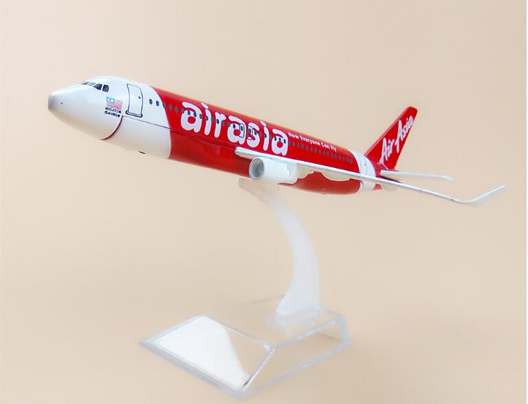 16cm Asian Air Asia Airasia Airlines Airbus 320 A320 Now Everyone Can Fly Airplane Model Airways Plane Model W Stand