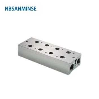 NBSANMINSE 3V100 3V200 3V300 3V400 Solenoid Valve Manifold Vavle Plate AirTAC Series Conflux Board High Quality цена 2017
