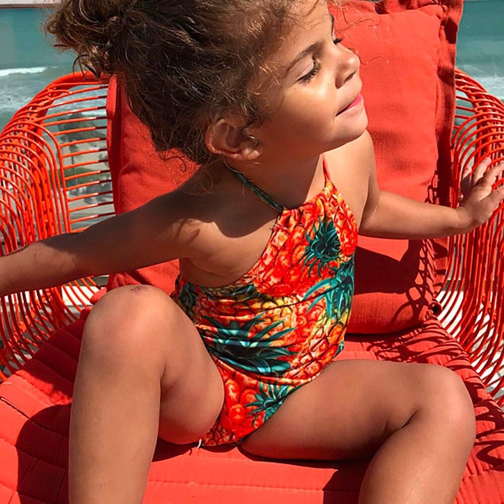 Badeanzug Mädchen Neue 1 Stück Kleinkind Kinder Baby Mädchen Ananas Druck Bikini Bademode Badeanzug Set Outfits Schwimmen Tragen Ju28 Durchsichtig In Sicht