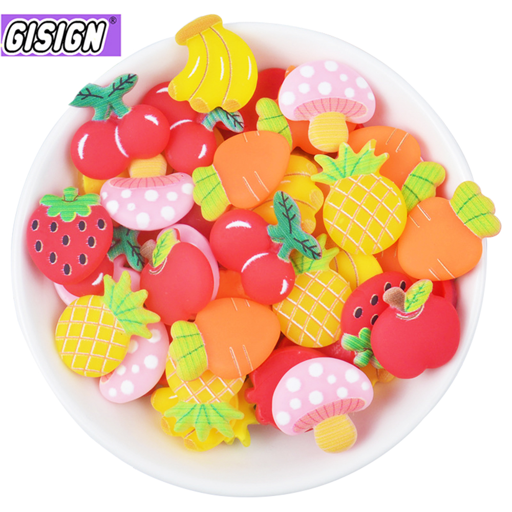Fruit Slices Supplements Charms For Slime DIY Polymer Filler Addition Slime Accessories Toys Lizun Modeling Clay Kit For Child