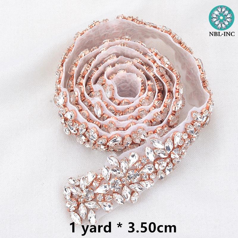 (10 YARDS)Wholesale silver bridal beaded crystal rhinestone applique trim  for wedding dress sash belt WDD0278-in Rhinestones from Home   Garden on ... 6758a7789ec1