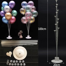 Accesorios para globos de 70/80/100cm, soporte para globos, soporte para globos, columna para boda, cumpleaños, fiesta, Baby Shower, suministros de decoración