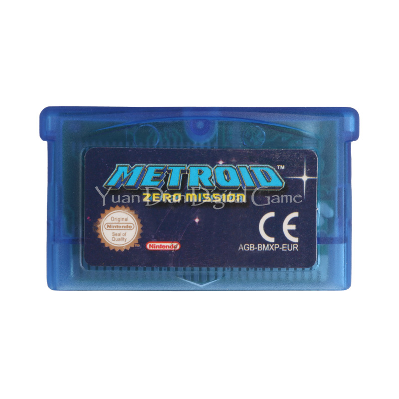 Nintendo GBA Video Game Cartridge Console Card Metroid Zero Mission ENG/FRA/DEU/ESP/ITA Language Version [50set lot] for nintendo gameboy series game cartridge housing shell replacing cover case for gb gbc gba sp