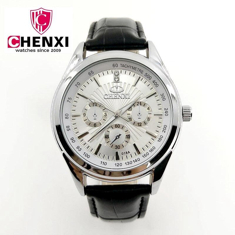 NATATE Men Business Casual Watches Men Luxury Original Brand CHENXI Three circles decoration Fashion Sports Leather