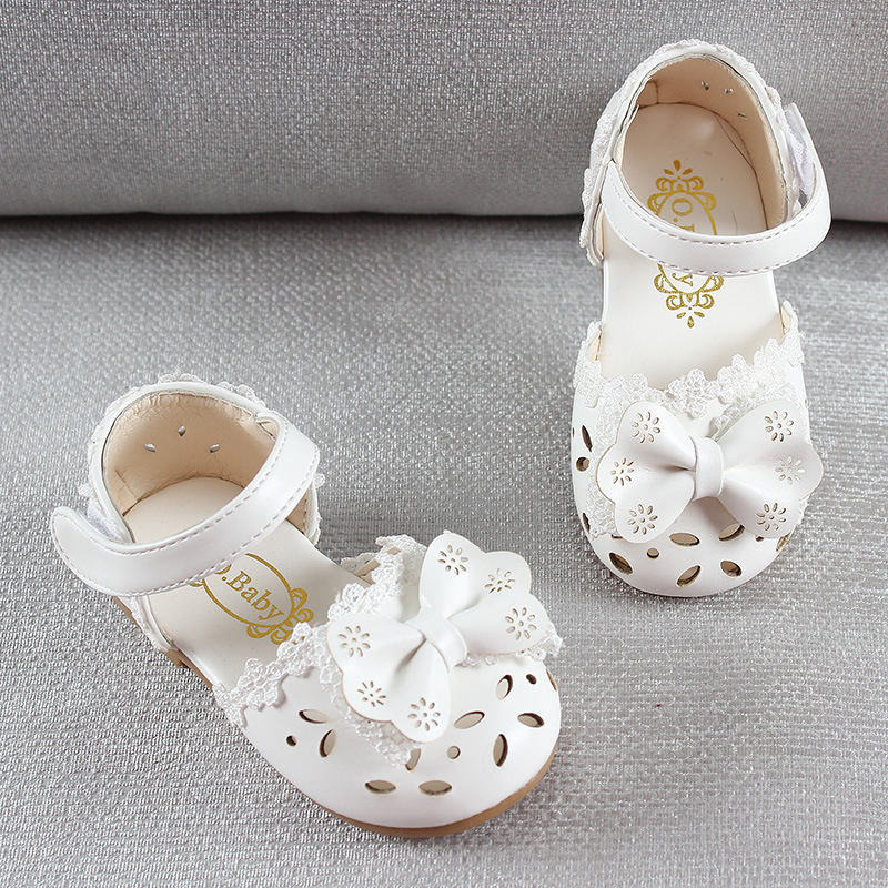HTB1UGneAiCYBuNkSnaVq6AMsVXar - Newest Summer Kids Shoes Fashion Leathers Sweet Children Sandals For Girls Toddler Baby Breathable Hoolow Out Bow Shoes