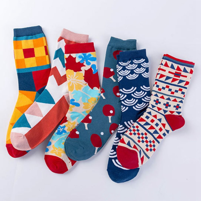 Underwear & Sleepwears Trustful Mens Socks Harajuku Colorful Happy Funny Long Warm Sock Casual Male In Tube All-match Simple Happy Socks Men Good Companions For Children As Well As Adults