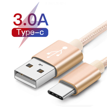USBC Type C USB Cable For Samsung S10 S9 Plus Huawei P30 Pro TypeC Phone Fast Charge Cord for Xiaomi