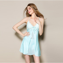 Fashion womans lingerie sleepshirt sleepwear chest pad Nightgowns Women Home Dress