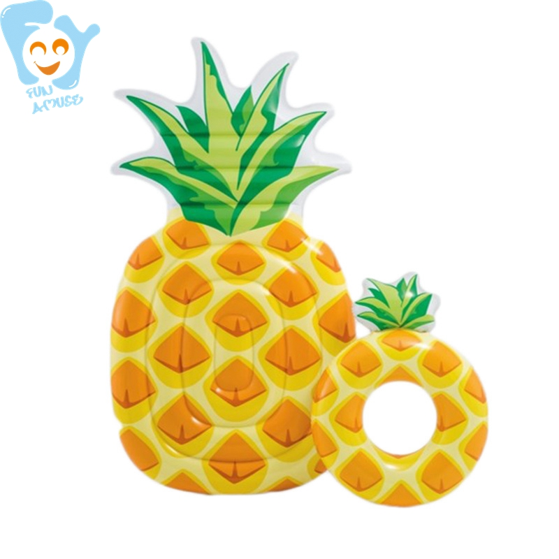 216cm Giant Inflatable Pineapple Swimming Floating Mattress Inflatable Pool Float Fun Water Air Bed Beach Toys Raft