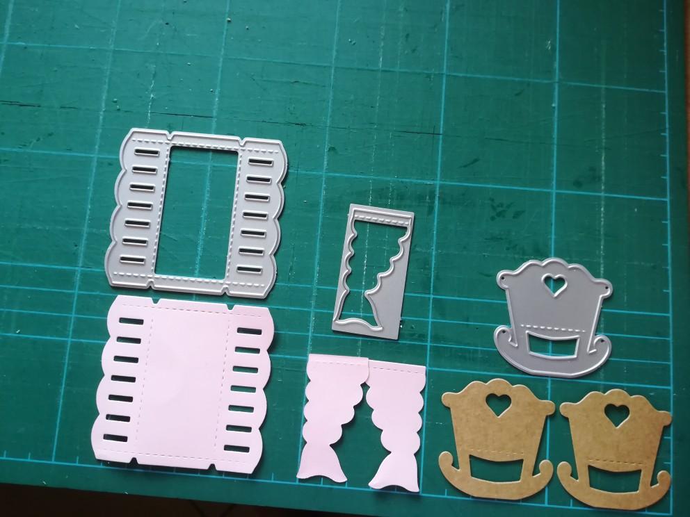 baby crib Cradle Metal Cutting Dies Scrapbooking Embossing Stencil Card Decor