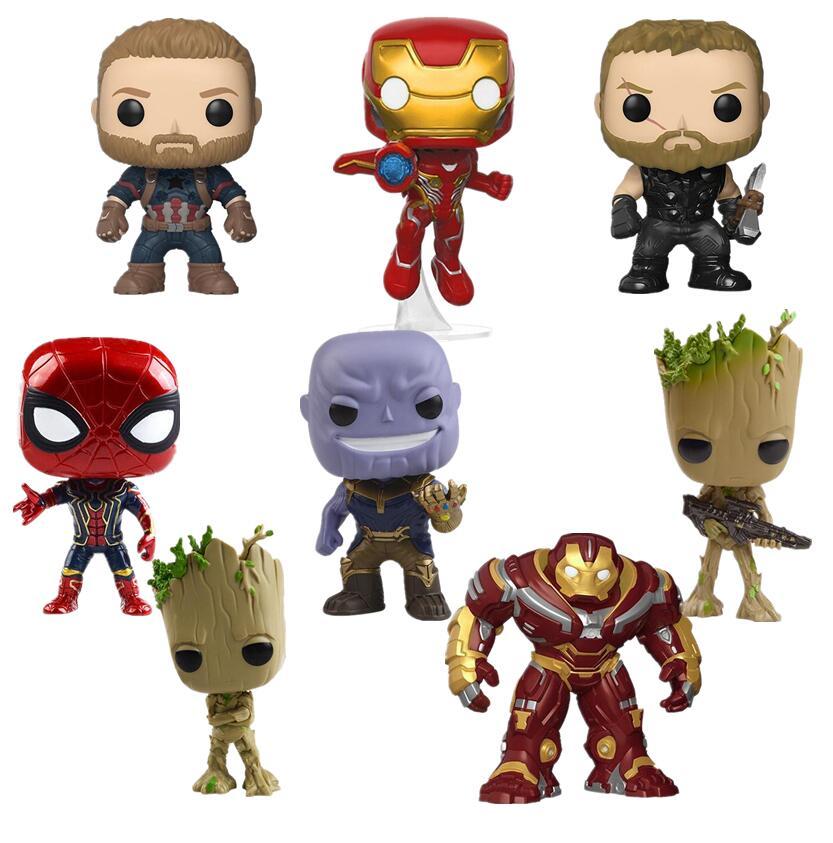 10cm Avengers: Infinity War Thanos Deadpool Thor Captain Iron Spider Man LOKI POP Action Figures Doll Toy Kids Gifts NO BOX