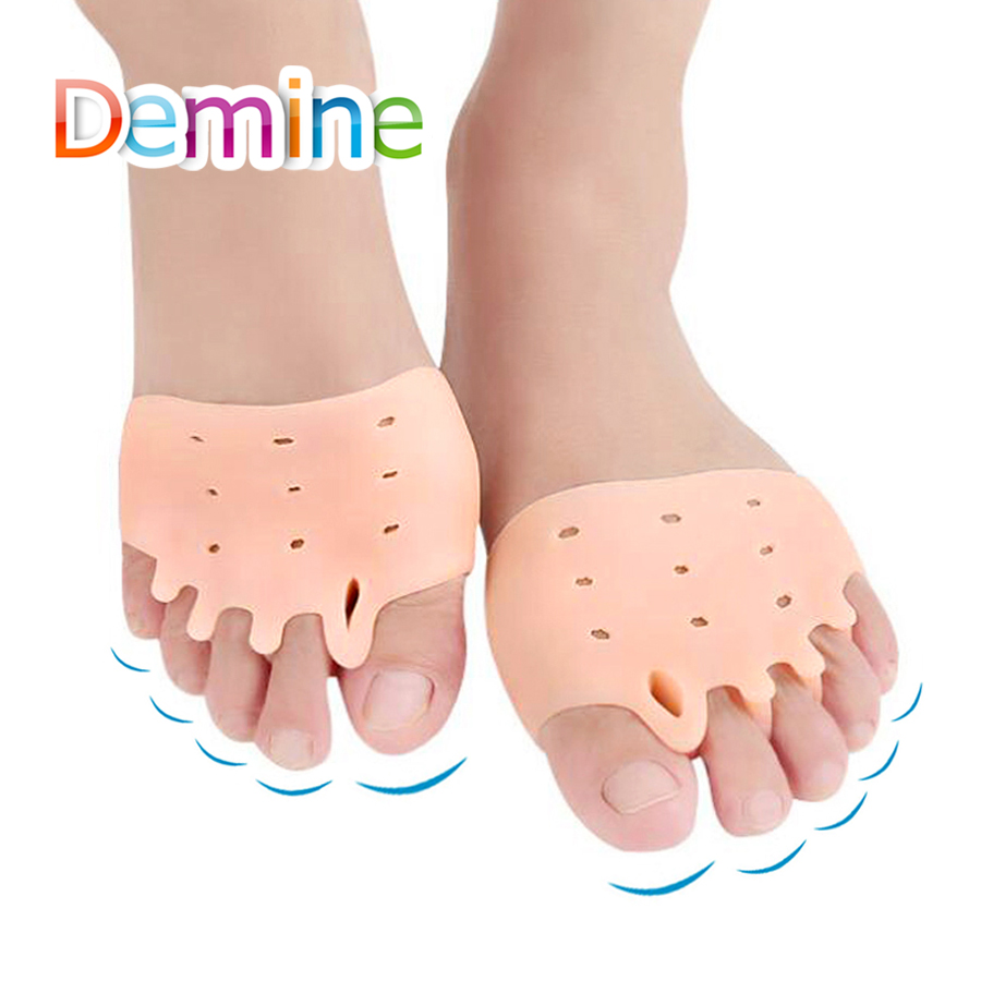 Silicone Honeycomb Forefoot Pad For Hallux Valgus Overlapping Pain Relief Toe Separator High Heels Orthopedic Half Inserts