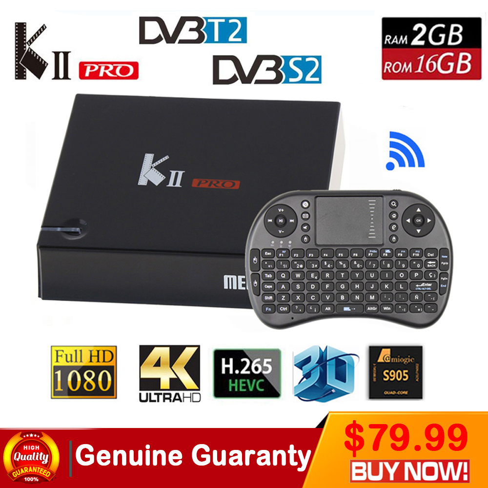 KII Pro Android 5.1 TV Box Amlogic S905 BT4.0 Media Player 2G+16G Dual WIFI IPTV DVB-S2/T2 K2 PRO Set Top Box Satellite Receiver kii pro android tv box amlogic s905 media player 2g 16g dual wifi iptv dvb s2 t2 k2 pro satellite receiver ship from russian