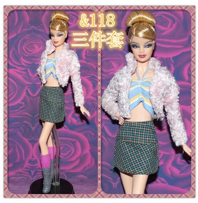 11 types for select Pageant Presents For Women Present way of life Go well with fur clothes bobtail Garments Sock For Barbie 1:6 Doll BBI0058