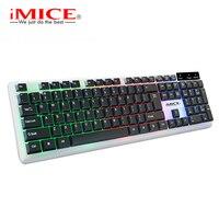 Imice Keyboards English Gaming Keyboard 104 Keys Backlit Keyboard Waterproof LED Gamer Backlit Keyboard For Desktop