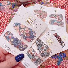 2 шт./компл. корейский стиль ткань Заколки для волос милый цветок печатных капли воды прямоугольник BB зажим для волос заколки Для женщин девочек оснастки заколка для волос