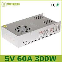 5V 60A 300W Switching Power Supply Driver for 5V WS2812B WS2801 LED Strip Light AC 110 240V Input to DC 5V Free shipping