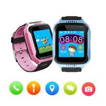 Получить скидку Q528 ребенок Смарт часы наручные часы Дети gps/LBS Finder Locator sos-вызов положение анти-потерянный трекер ребенка безопасно монитор Smartwatch