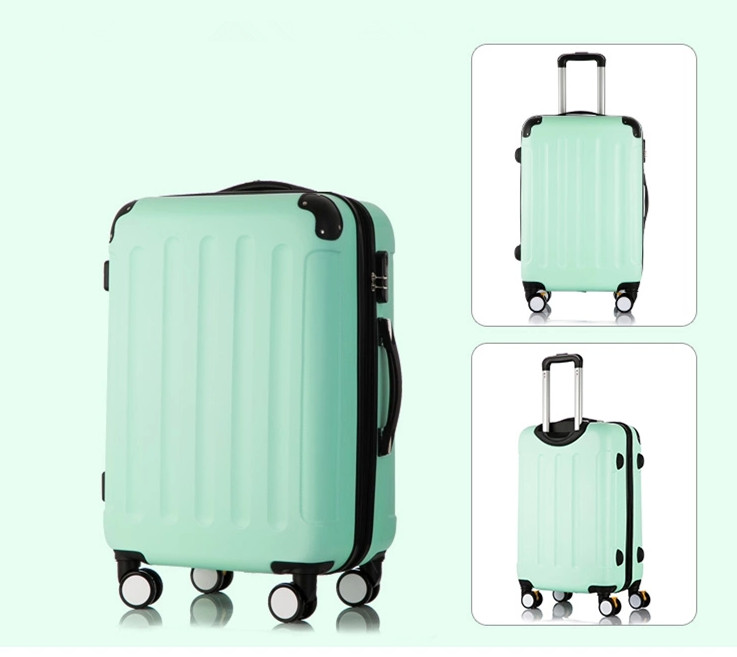 Wholesale!cooskin 24inch abs pc universal wheels travel luggage for woman,high quality lovely case bags on wheels
