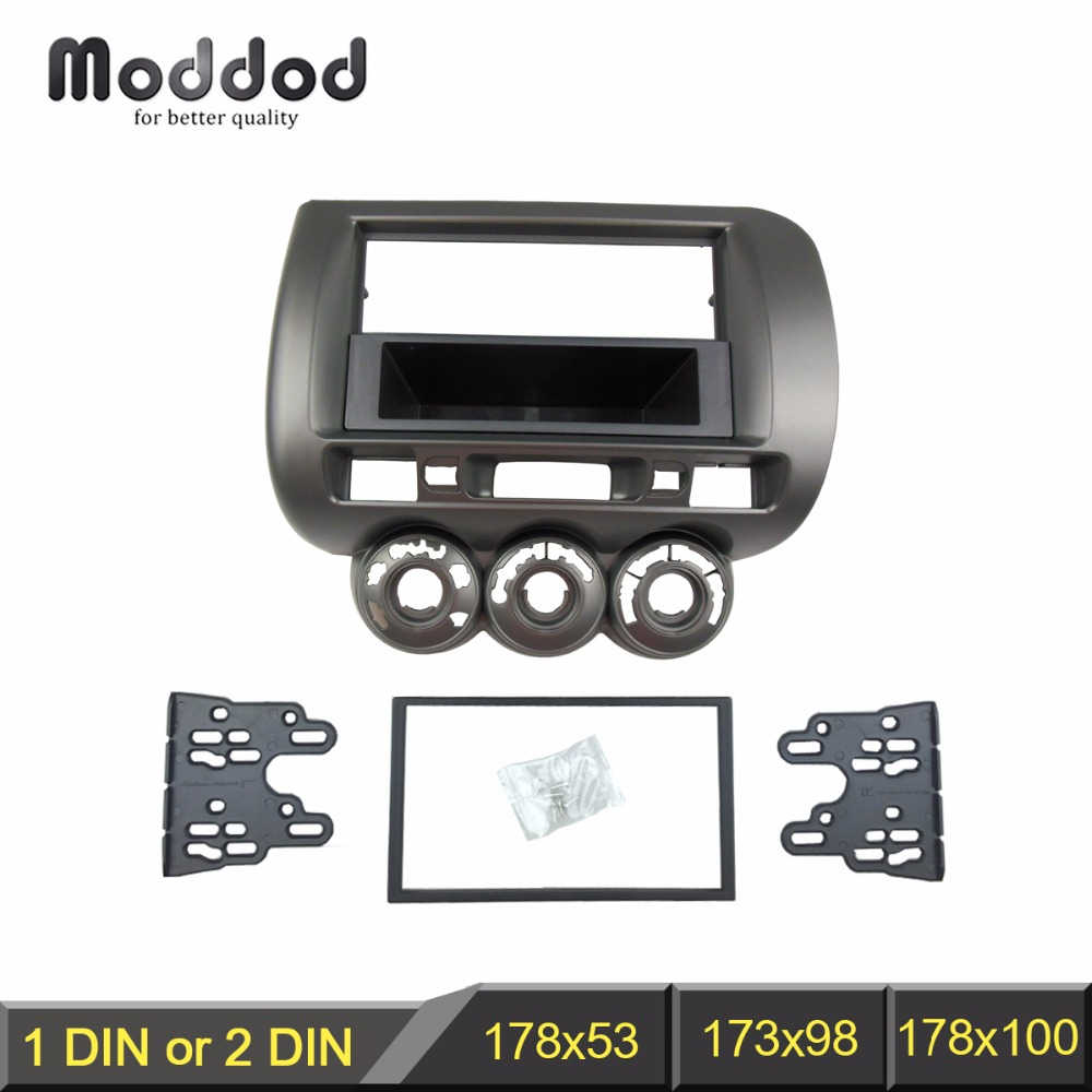 цена на One/Double Din Facia for Honda Jazz Radio DVD Stereo CD Panel Dash Mounting Installation Trim Fascia Kit Face Frame Bezel