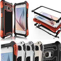 Leben Wasserdicht Stoßfest Aluminium Rüstung Hard Case Für Samsung Galaxy S6 S7 S8 rand Plus Note 8 Für iPhone 5 6 7 8 X Metallgehäuse