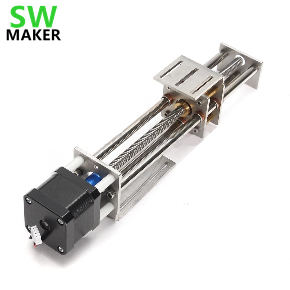 SWMAKER 50mm/150mm Slide Stroke CNC Z Axis Slide Linear Motion + NEMA17 Stepper Motor For Reprap Engraving Machine