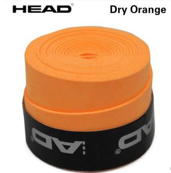 10pcs/lot Head Tennis Racket PU Overgrip Anti-skid Sweat Absorbed Soft Wrap Taps Tenis Racquet Damper Dry/ Vibration Tacky grips - Dry orange