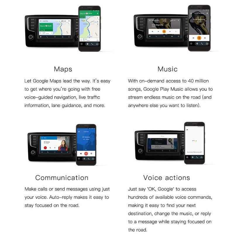Nouvelle génération USB CarPlay Dongle pour Android multimédia GPS Radio avec micro intégré Siri commande vocale CarPlay et Android Auto - 5