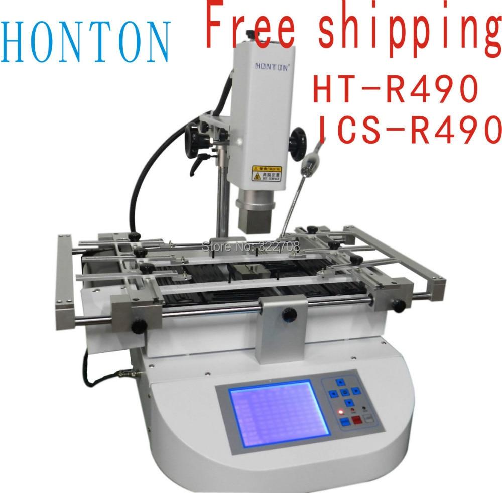 Spedizione gratuita! Honton HT-R490 reballing macchina bga ICS-R490bga macchina di rilavorazione, aggiornato da R392 saldatore 220 bianco