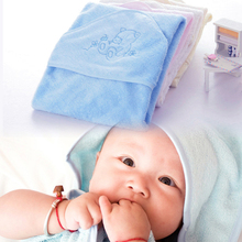 Hot wholesale 100% bamboo fiber super soft and comortable 90x90cm 345gsm baby towel baby hooded towel infant towel