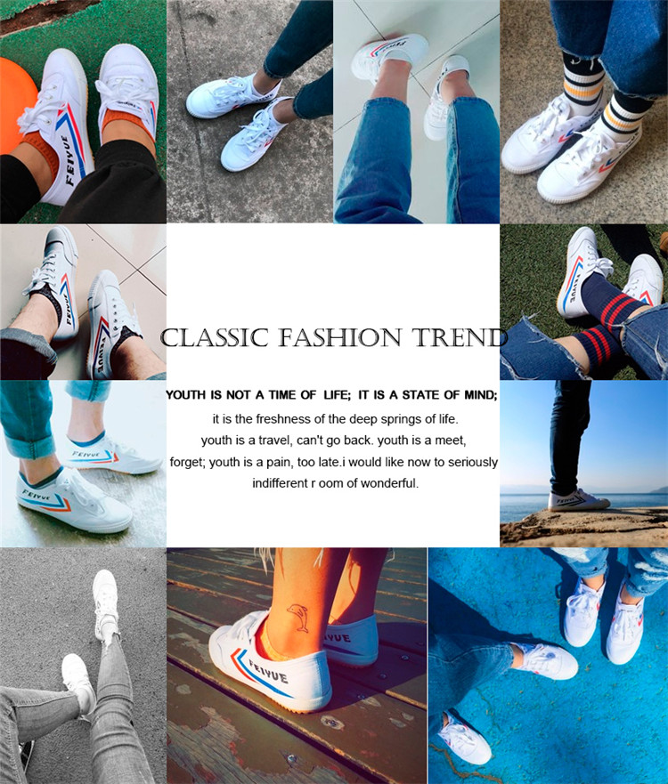 Feiyue shoes New classic Martial arts Tai Chi canvas shoes Rubber shoes men women sneakers 20