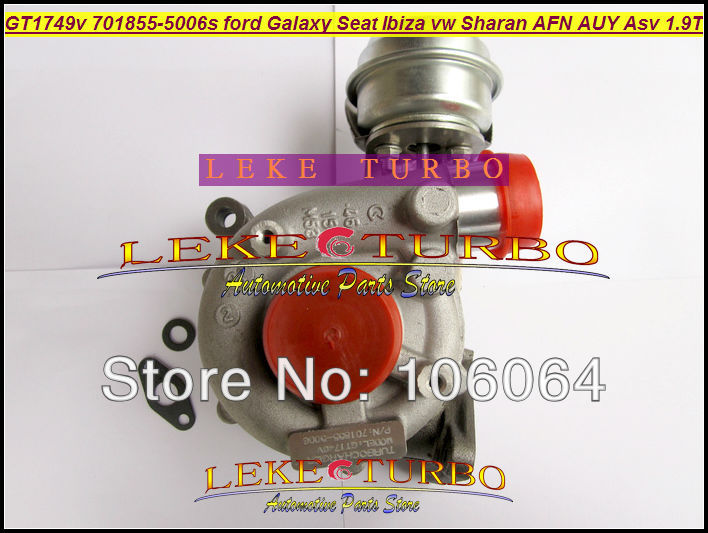 GT1749V 701855-0006 701855-0004 701855-0002 701855 Turbo For Ford Galaxy For Seat Alhambra Ibiza VW Sharan AFN AUY ASV AVG 1.9L