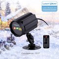 Holigoo Red & Green Lotus Wireless Control Laser Christmas Lights, Moving Outdoor Star Projector LED Spotlights for Garden House