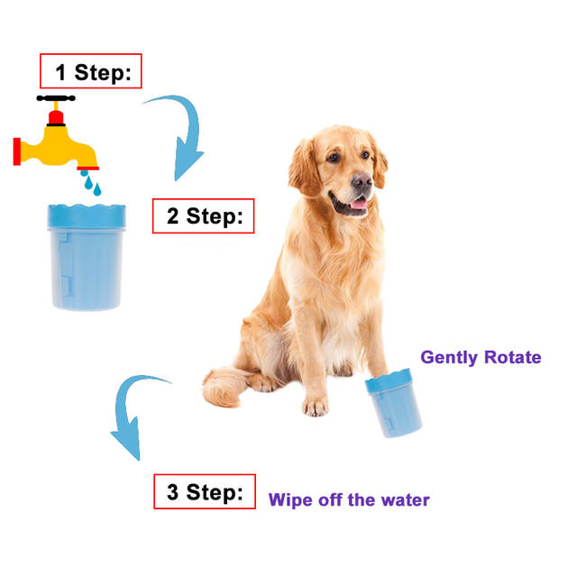 Online Shop New Pet Foot Washer Cup Dog Foot Wash Tools Soft Gentle