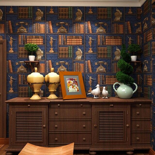 Online Shop 3D Creative Bookshelf Wallpaper For Walls Library
