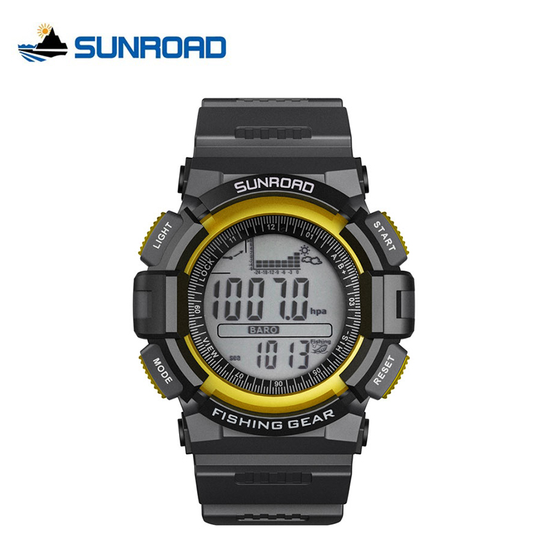 SUNROAD Weather Forecasting Relogio Masculino Waterproof Outdoor Sports Fishing Watch Barometer Thermometer Altimeter Watch Men набор чашек с крышкой 2 предмета 15x12x9 5 см berghoff geminis 1695075