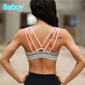 Beboy Padded Sports Bra Running Yoga Fitness Bra Sex Sport Bra Top Spaghetti Straps Gym Bra Quick Dry Compression Underwear Vest