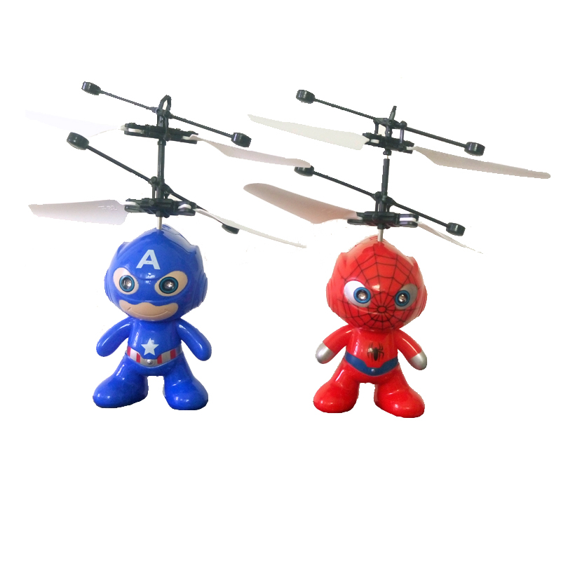 RC Superman Action Figure Drone RC Helicopter Kids Toys