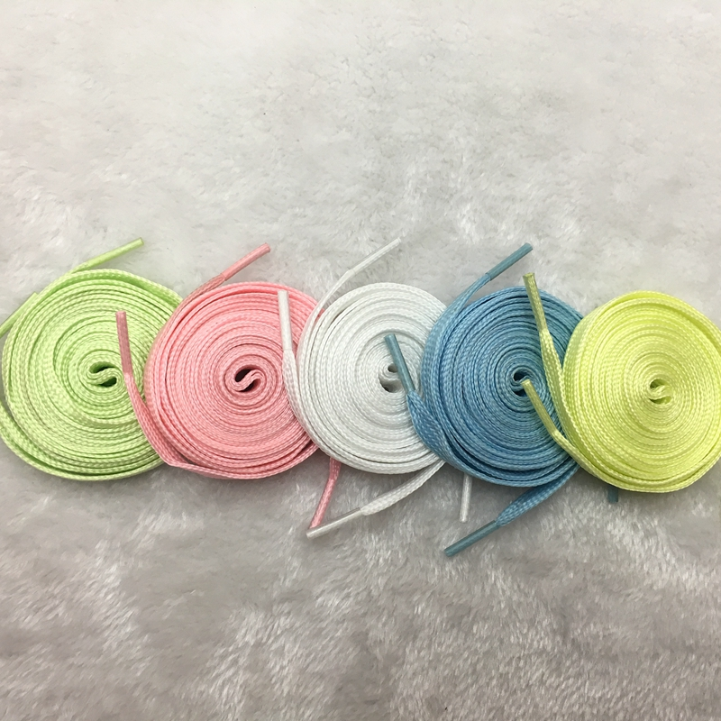 Luminous Shoelaces Athletic Sport Flat Canvas Shoe Laces Glow In The Dark Night Color Fluorescent Shoelace 80 100 120 140cm YG 1 in Shoelaces from Shoes