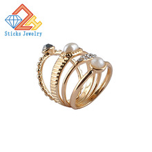 (4 Pieces / Lot) 100% Environmentally Friendly Material Alloy Ladies Ring