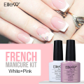 Elite99 7.3ml Nail Gel Polish French Manicure Kit Set Free Tip Guides Decorations Nail Gel for Nail Art