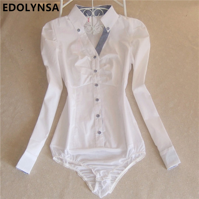 Brand Plaid Shirt Blouse Women Work Wear Cotton Bodysuit Elegant Formal  Shirts Female Tunic White Body Blouses Tops Plus Size - Online Get Cheap White Bodysuit Blouse -Aliexpress.com Alibaba Group