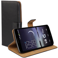 Luxury Genuine Leather Case For LG G Flex D958 F340 Wallet Flip Book Style Protect Shell Cell Phone Cover Bags With Card Holder
