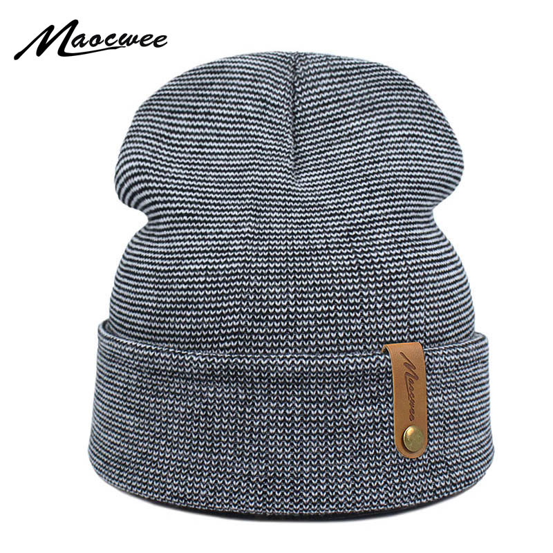 Brand Winter Hat For Men Skullies Beanies Women Fashion Warm Cap Unisex Elasticity Knit Beanie Green Unisex Casual Hats 2018