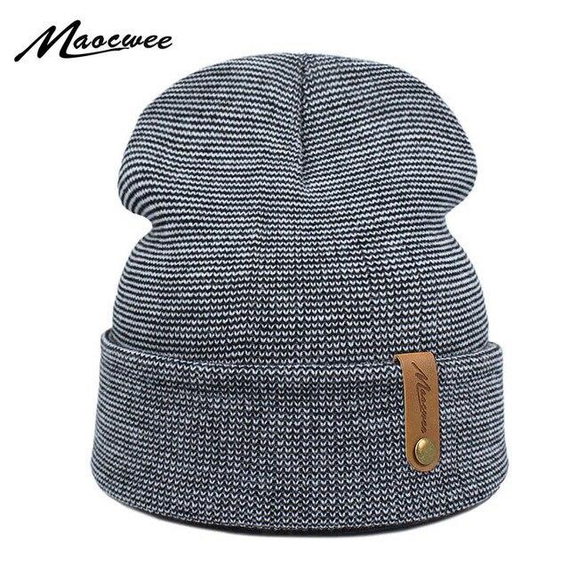 600bad87 Brand Winter Hat For Men Skullies Beanies Women Fashion Warm Cap Unisex  Elasticity Knit Beanie Green