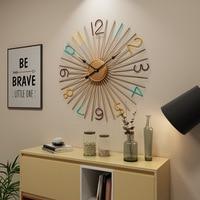 Large Metal Wall Clock Modern Design European Iron Art Big Clocks Hanging Wall Watch on The Wall
