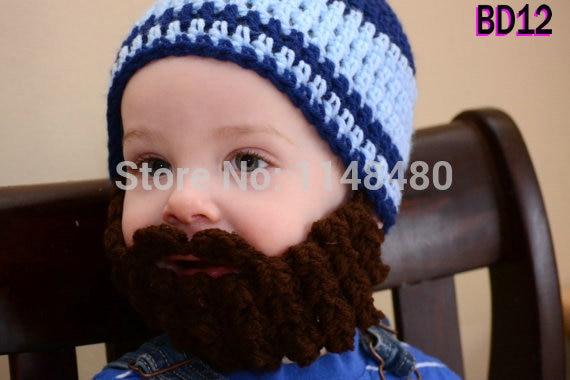 On sale Baby baby boy Beard beanie red blue beard hat Christmas ...